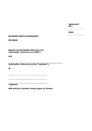 Network Service Agreement
