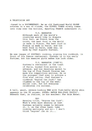 Orginal Screenplay Example