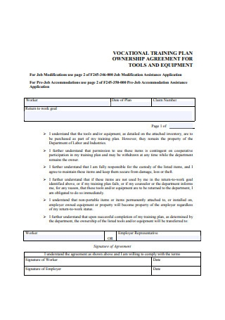 Ownership Agreement Example
