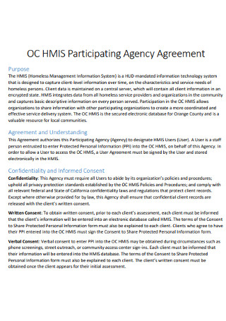 Participating Agency Agreement
