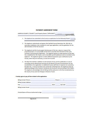 Payment Agreement Form