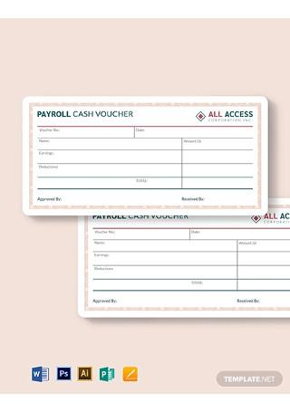 Payroll Cash Voucher Template