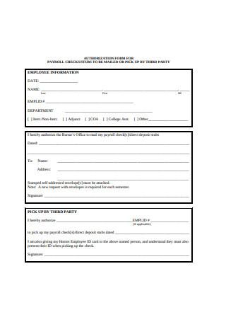 Payroll Check Form