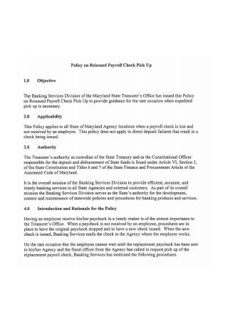 Payroll Check Policy Format