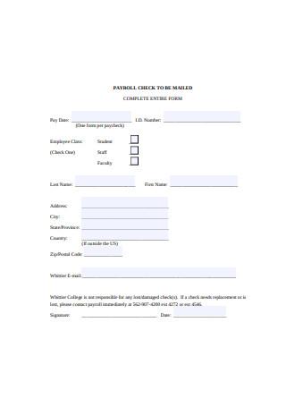 Payroll Check Sample