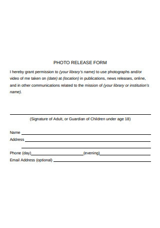 Photo Location Release Form