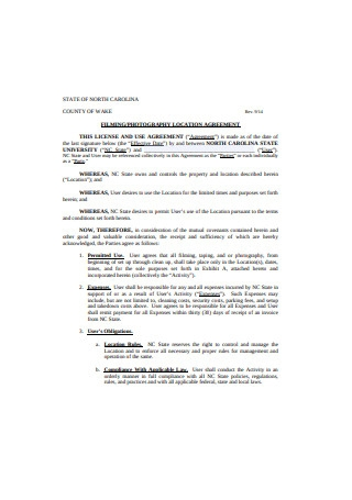 Photography Location Agreement Format