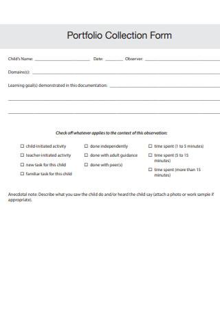 Portfolio Collection Form