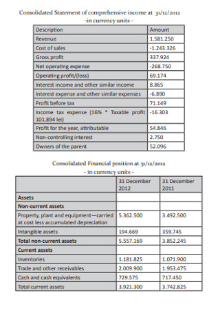 Presentation of Consolidated Statement of Cash Flow