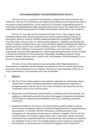 Professional Anti discrimination Policy