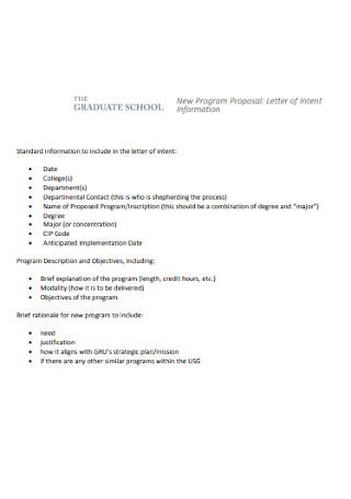 Program Proposal Letter
