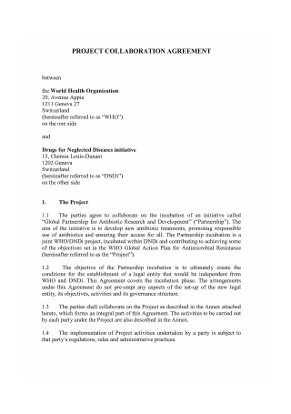 Project Collaboration Agreement
