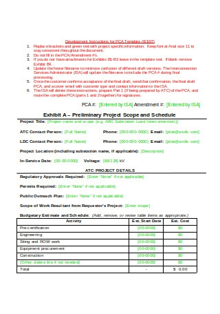 Project Commitment Agreement
