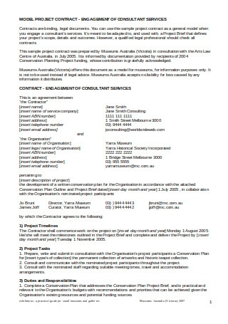 Project Consultant Contract