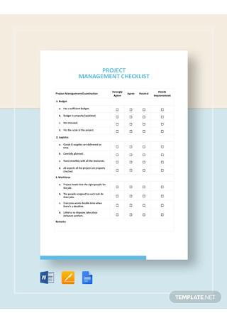Project Management Checklist Template1
