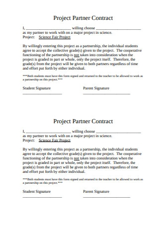 Project Partner Contract