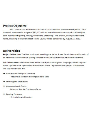 Project Scope Statement and Objective