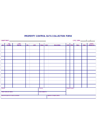 Property Control Data Collection Form