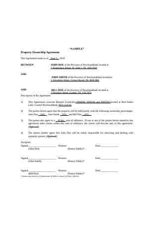Property Ownership Agreement