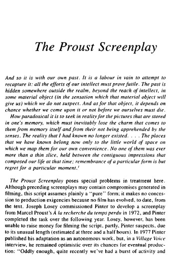 Proust Screenplays
