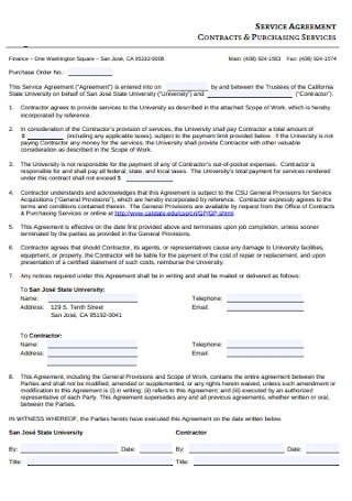 Purchasing Service Agreement