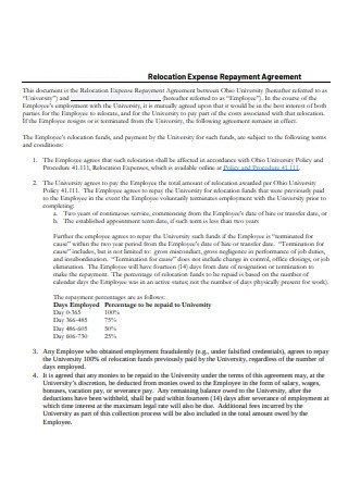 Relocation Expense Repayment Agreement