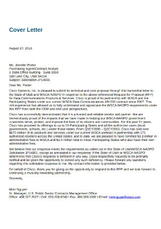 Response to Proposal Letter
