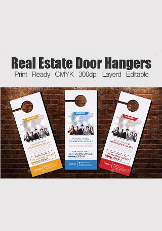 Retro Real Estate Door Hanger