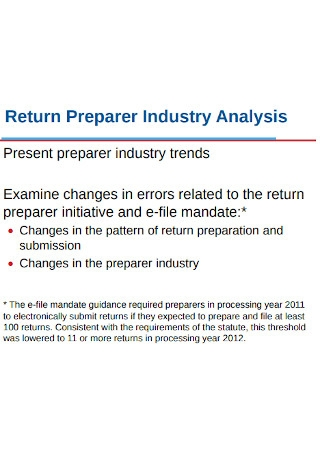 Return Preparer Industry Analysis