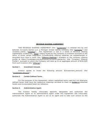 Revenue Sharing Agreement