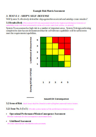 Risk Assessment Matrix Example