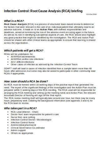Root Cause Analysis RCA Policy