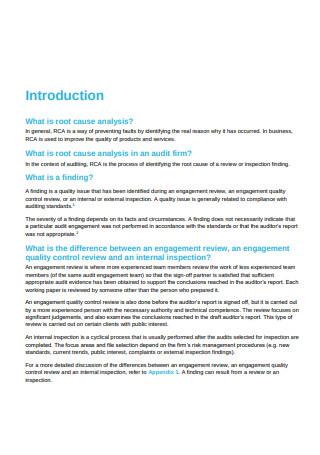 Root Cause Analysis in PDF