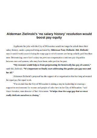 Salary History Resolution