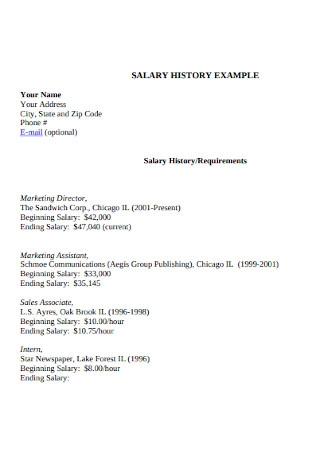 Salary History or Requirements