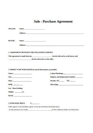 Sale Purchase Agreement