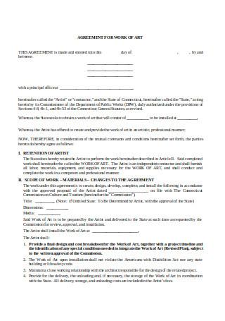 Sample Art Contract