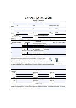 Sample Booth Salon Rental Agreement Application