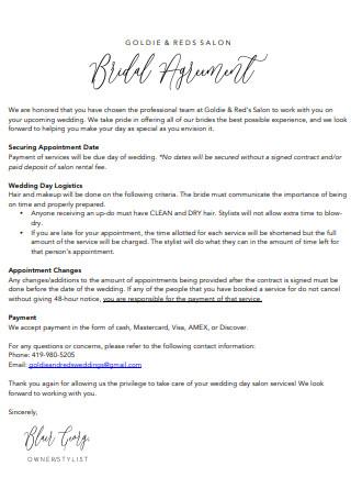 Sample Booth Salon Rental Agreement