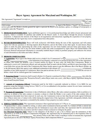Sample Buyer Agency Agreement