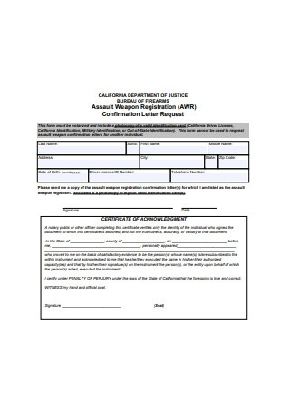 Sample Confirmation Letter Request Form