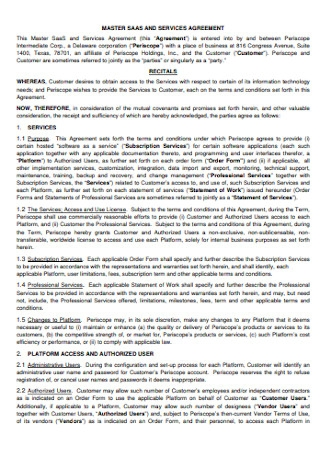 Sample Corporation Service Agreement