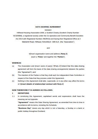 Sample Data Sharing Agreement Format