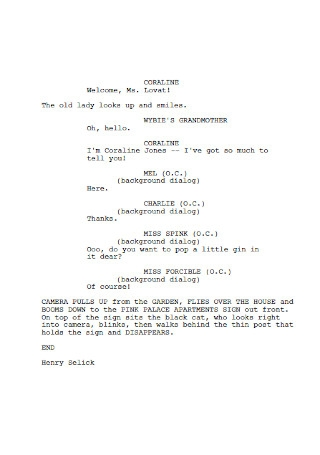 Sample Final Screenplay