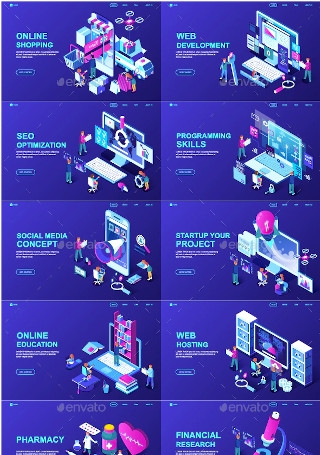 Sample Isometric Landing Page