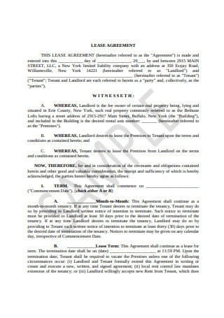 Sample Lease Agreement Format