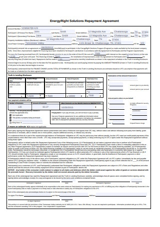 Sample Repayment Agreement Example