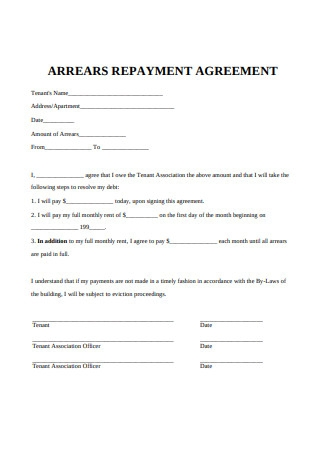 Sample Repayment Agreement