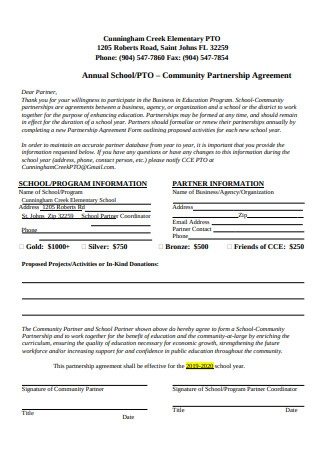 School Community Partnership Agreement Format