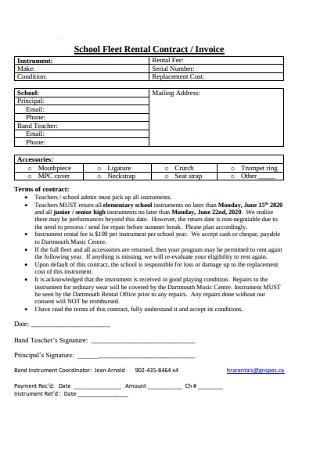 School Fleet Rental Contract